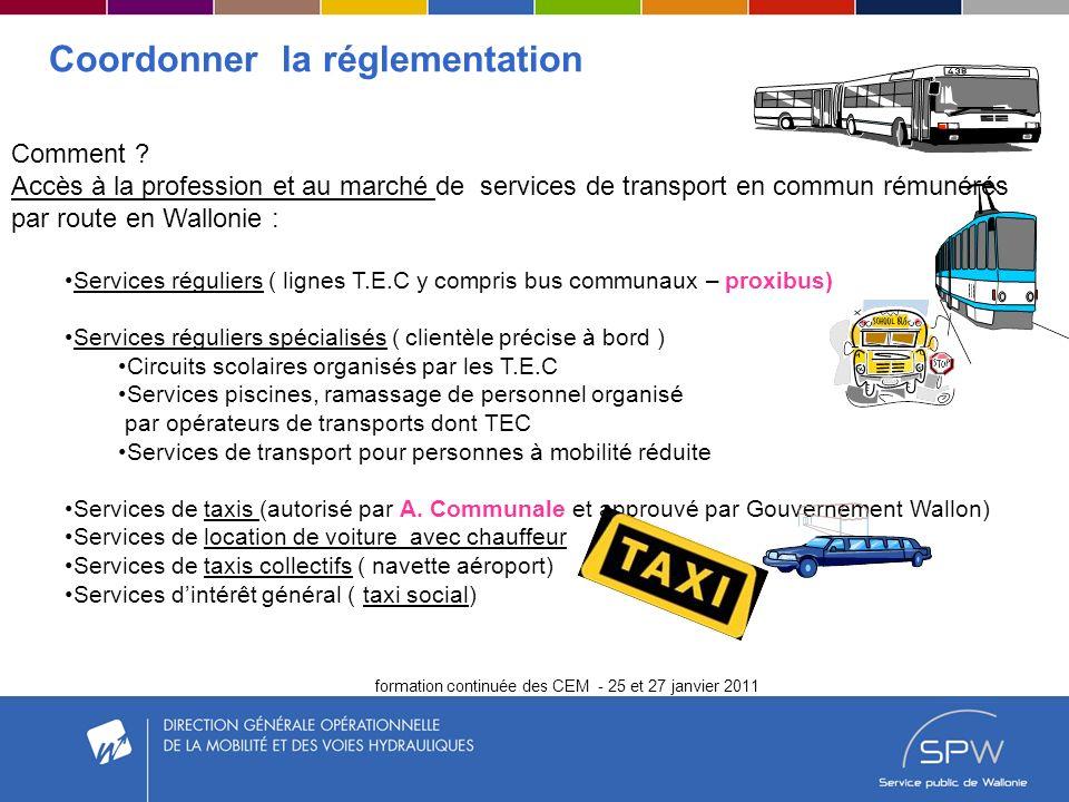 formation continuée des CEM - 25 et 27 janvier 2011 Contrôler Sanctions administratives dès 2011- décret taxi