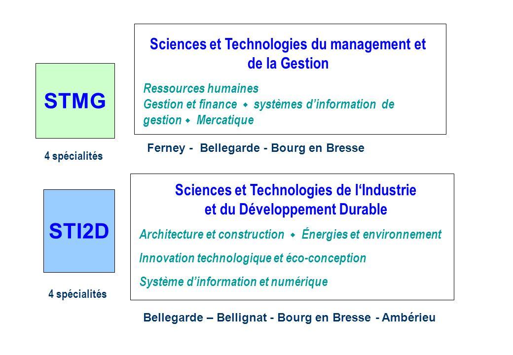 Sciences et Technologies du management et de la Gestion Ressources humaines Gestion et finance systèmes dinformation de gestion Mercatique Ferney - Be