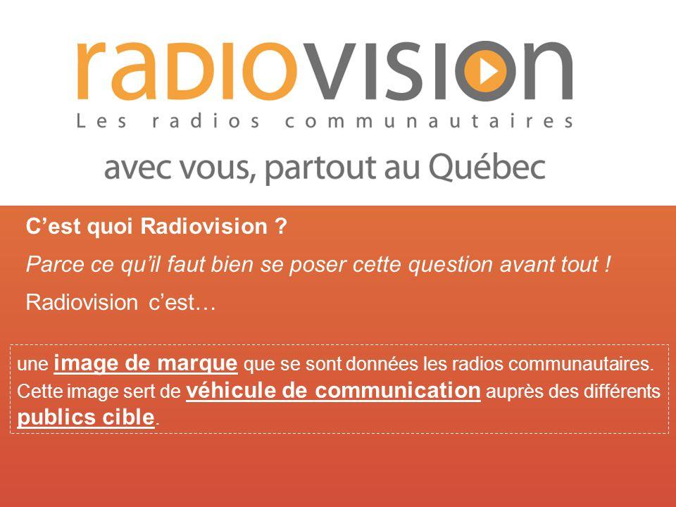Radiovision une image de marque que se sont données les radios communautaires.