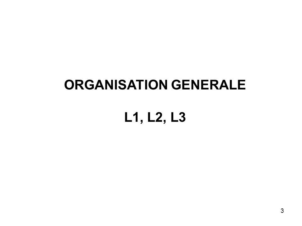 3 ORGANISATION GENERALE L1, L2, L3