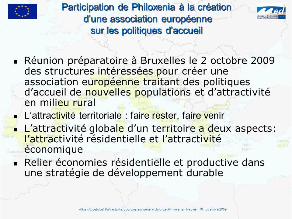 Réunion préparatoire à Bruxelles le 2 octobre 2009 des structures intéressées pour créer une association européenne traitant des politiques daccueil d