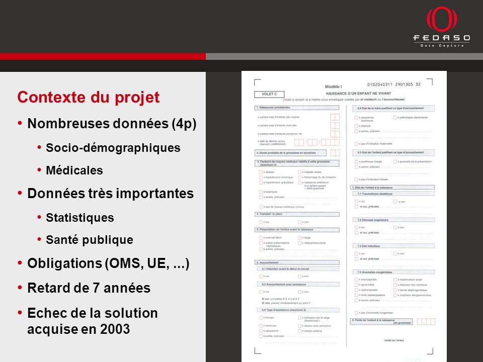Déclarations de 2000 à 2006 (1.800.000 pages) Capture des données présentes Codification des causes de décès Créer BDD Intégrer Styx Intégrer les chaînes de traitement Archivage électronique Périmètre du projet