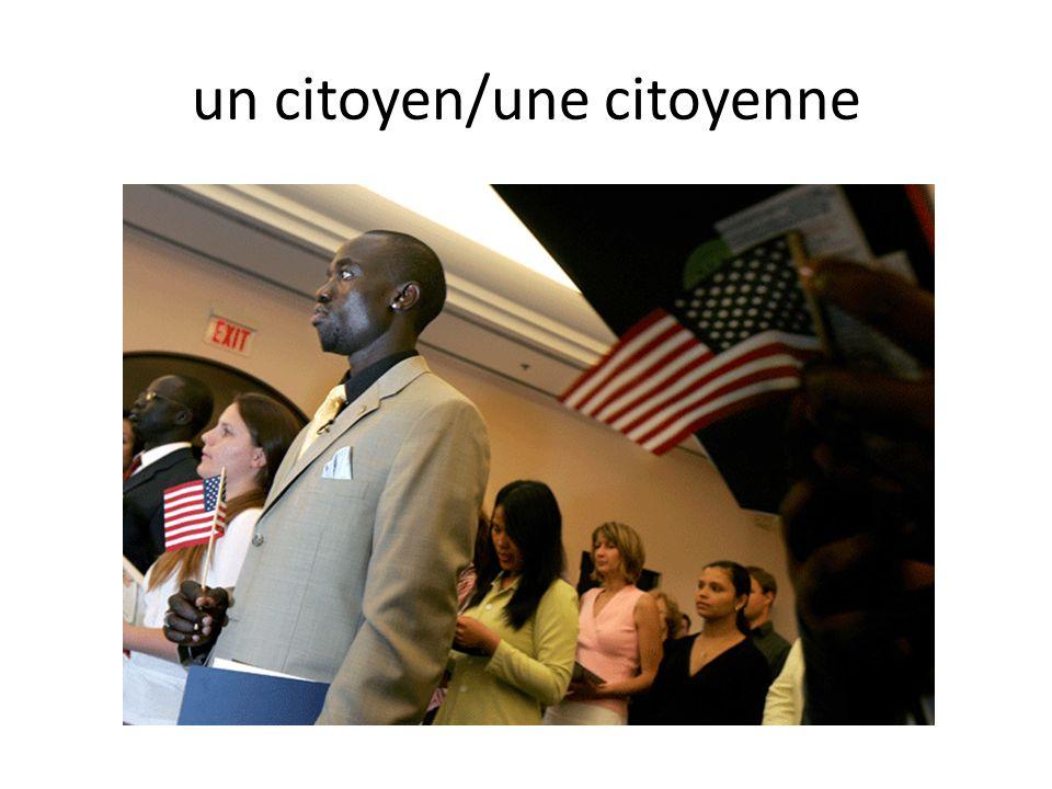 un citoyen/une citoyenne