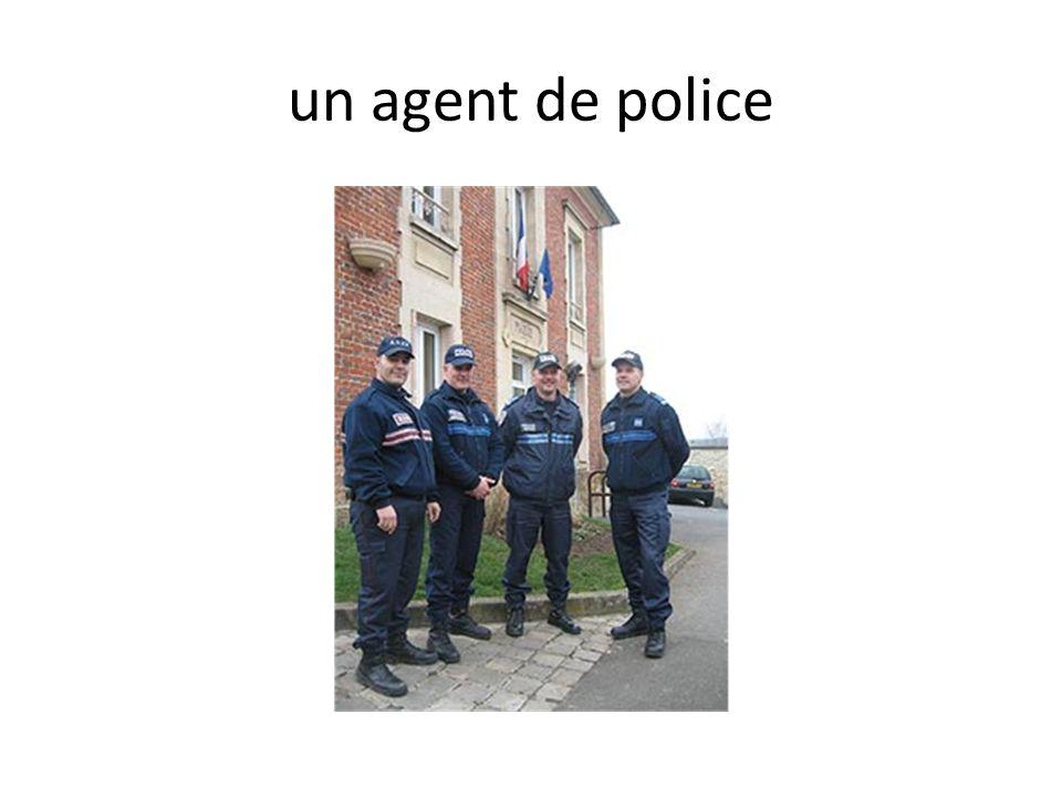 un agent de police