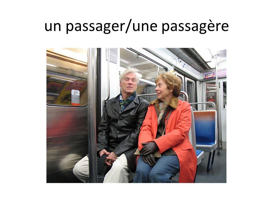 un passager/une passagère