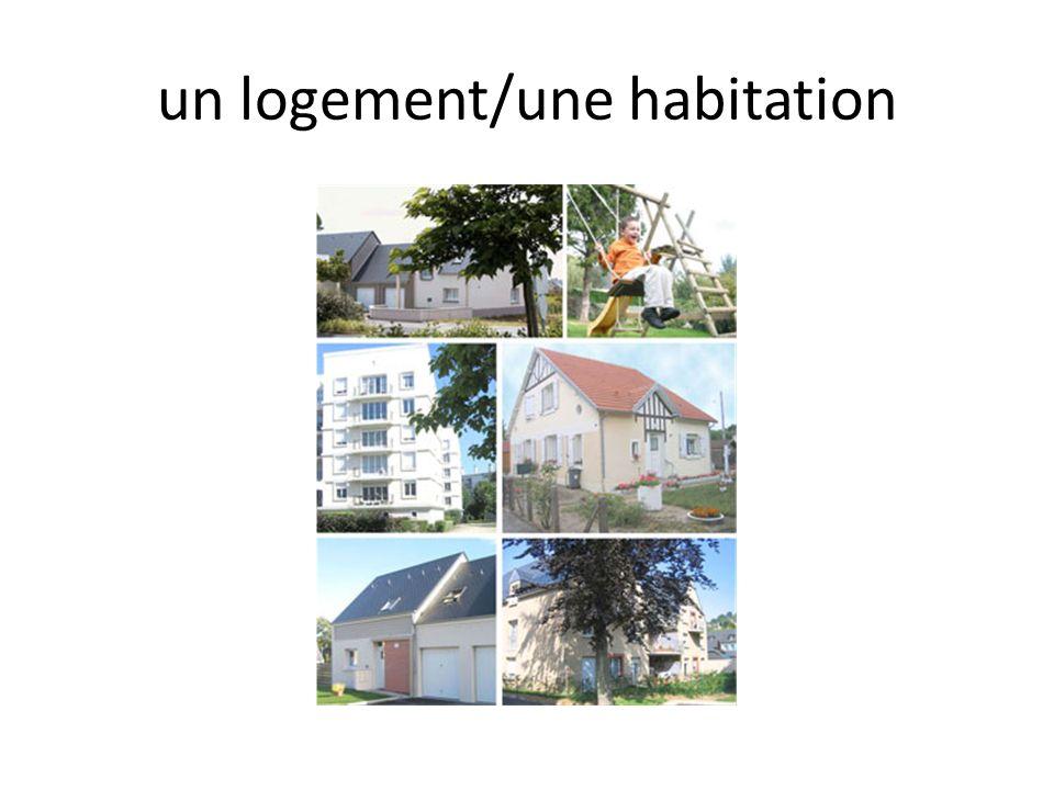 un logement/une habitation