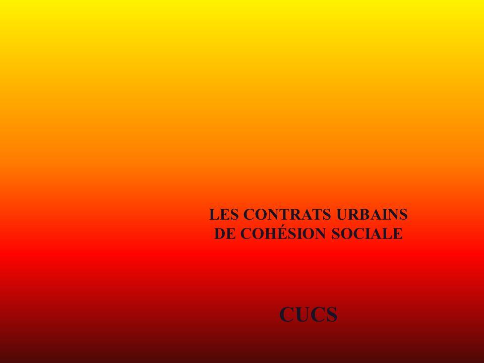 LES CONTRATS URBAINS DE COHÉSION SOCIALE CUCS