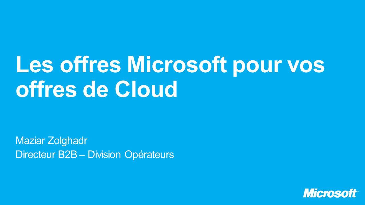 FY 2015 Serveurs vendus (million) 7.7M 8.2M 8.6M 9.0M Serveurs vendus virtualisés Physiqu e Virtuel Cloud
