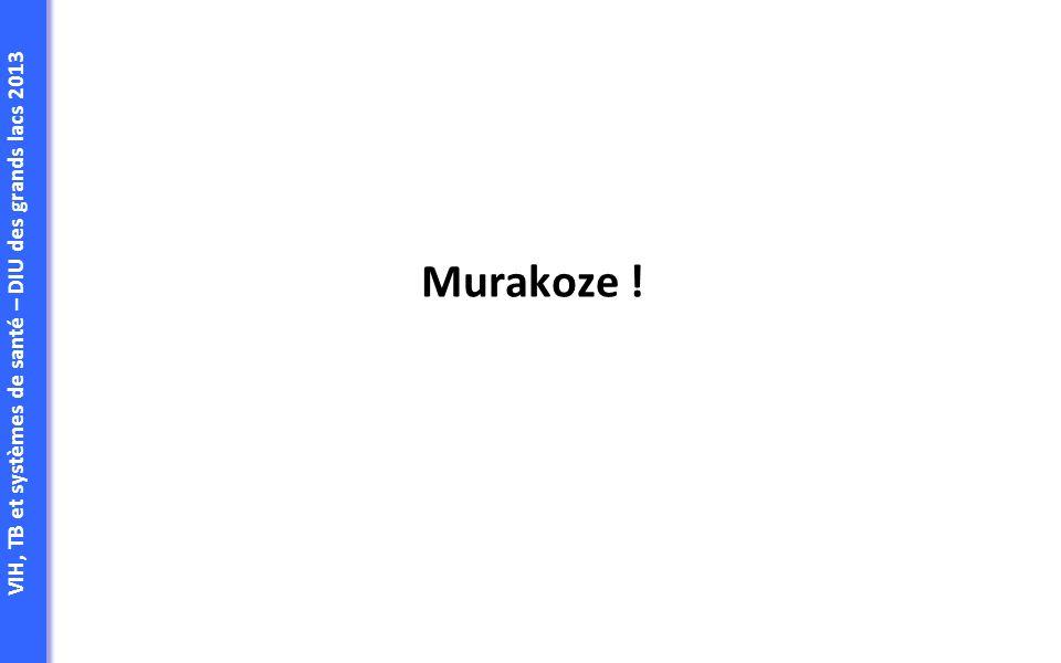 VIH, TB et systèmes de santé – DIU des grands lacs 2013 Murakoze !