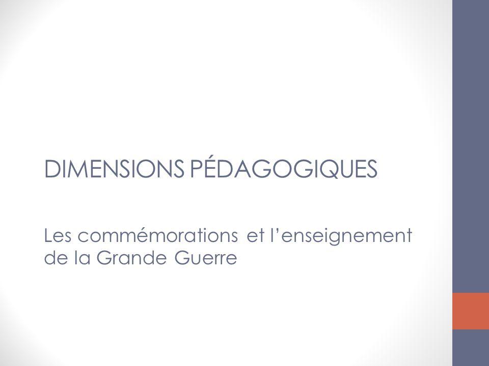Dimensions pédagogiques des commémorations BO MENE1314396N Insister sur la force de lévénement conflit mondial, violence de masse...