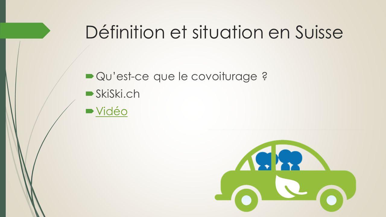 Définition et situation en Suisse Quest-ce que le covoiturage ? SkiSki.ch Vidéo