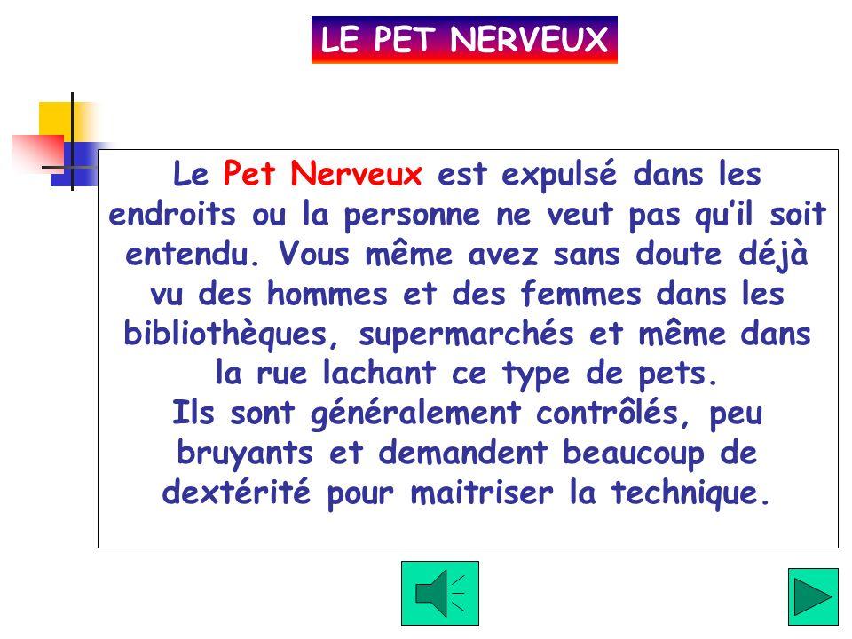 Cliquez ici Le Pet Commun est le pet plus fréquent.