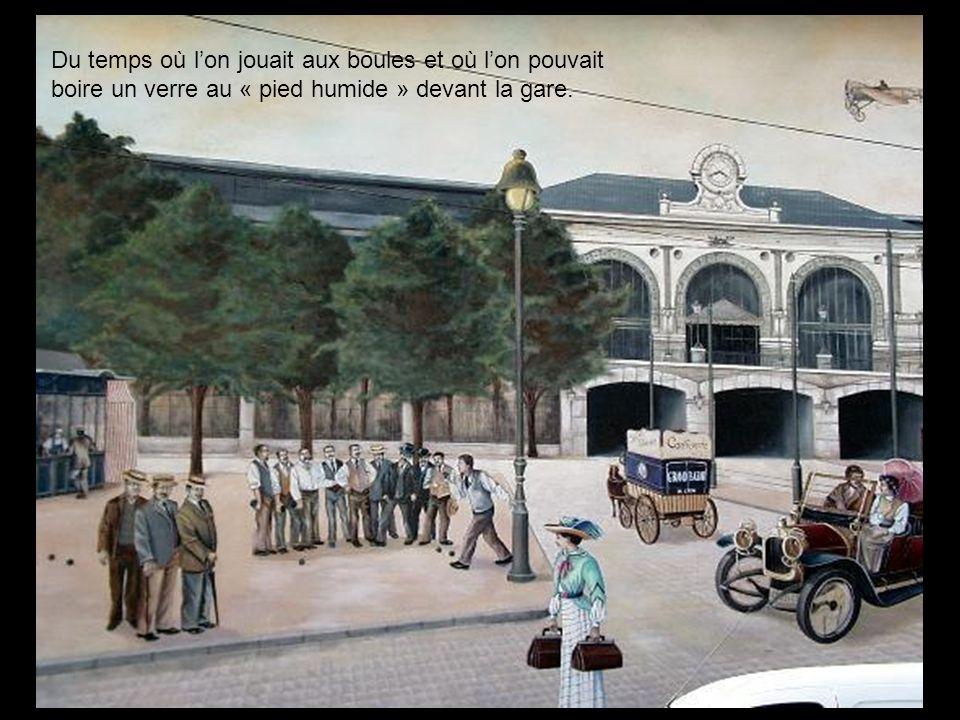 La gare de Perrache au temps où elle siégeait sur le cours de Verdun.