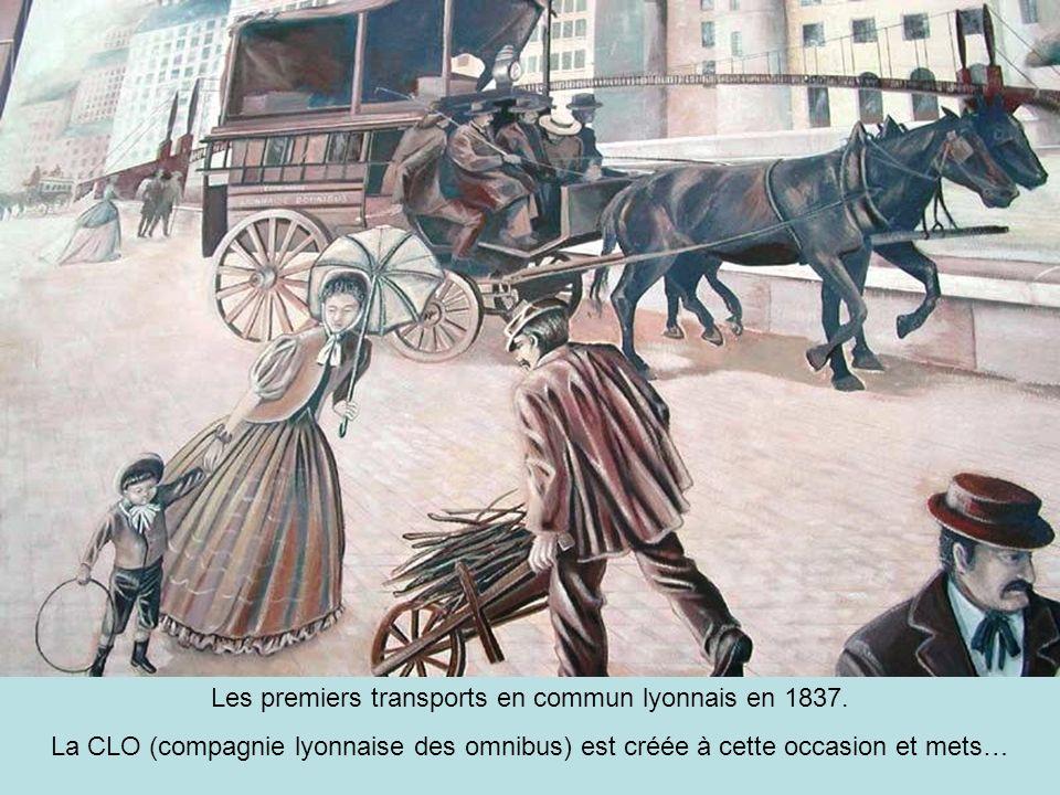 Les premiers transports en commun lyonnais en 1837.