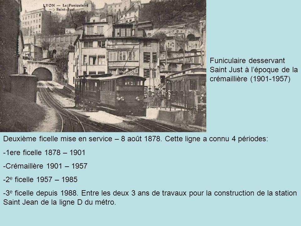 Ficelle de la rue Terme.Cest la première qui fut mise en service le 3 juin 1862.