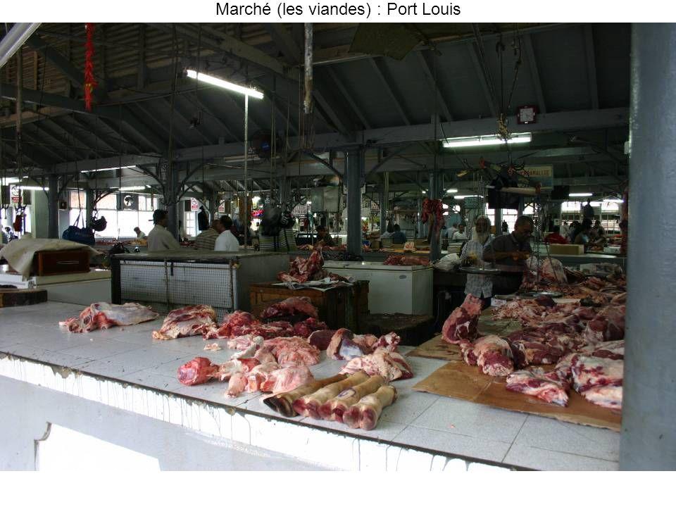 Marché (les viandes) : Port Louis