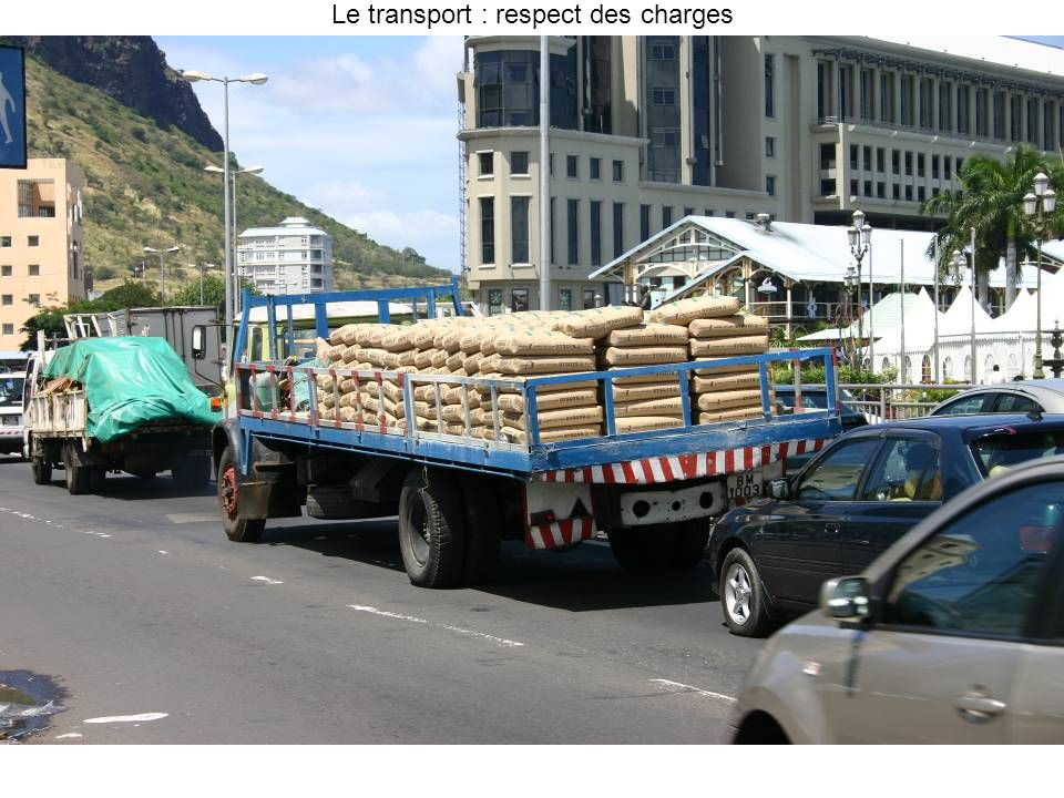 Le transport : respect des charges