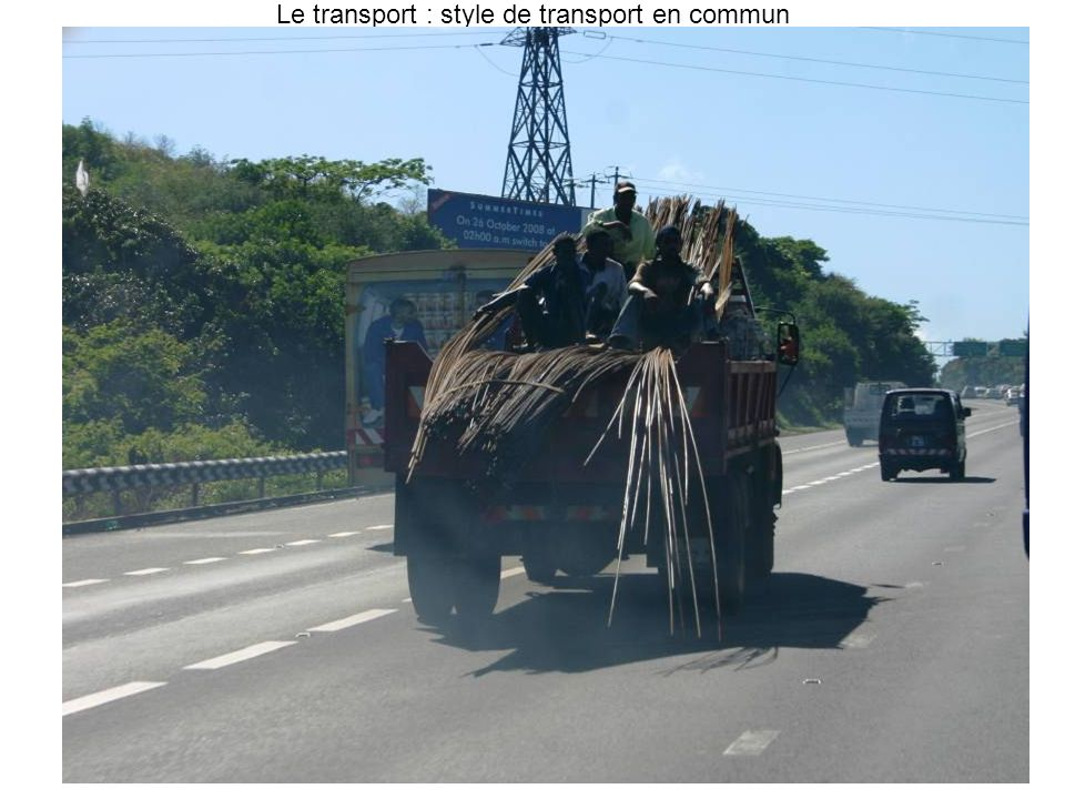 Le transport : style de transport en commun