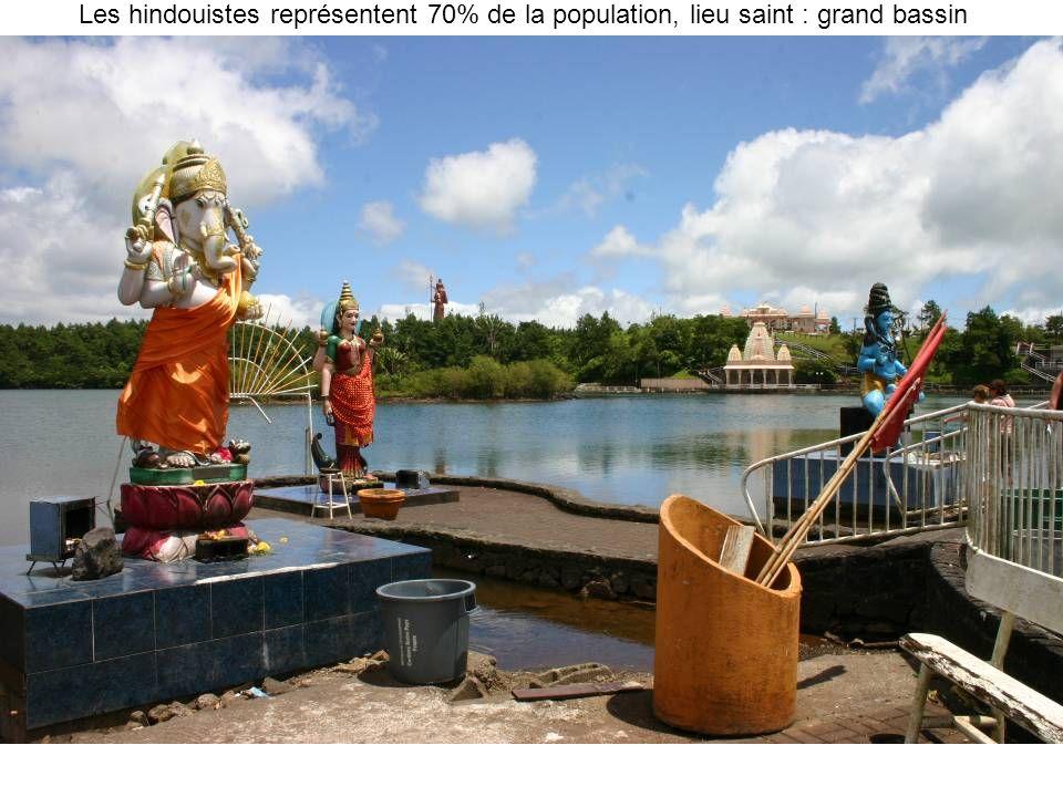 Les hindouistes représentent 70% de la population, lieu saint : grand bassin
