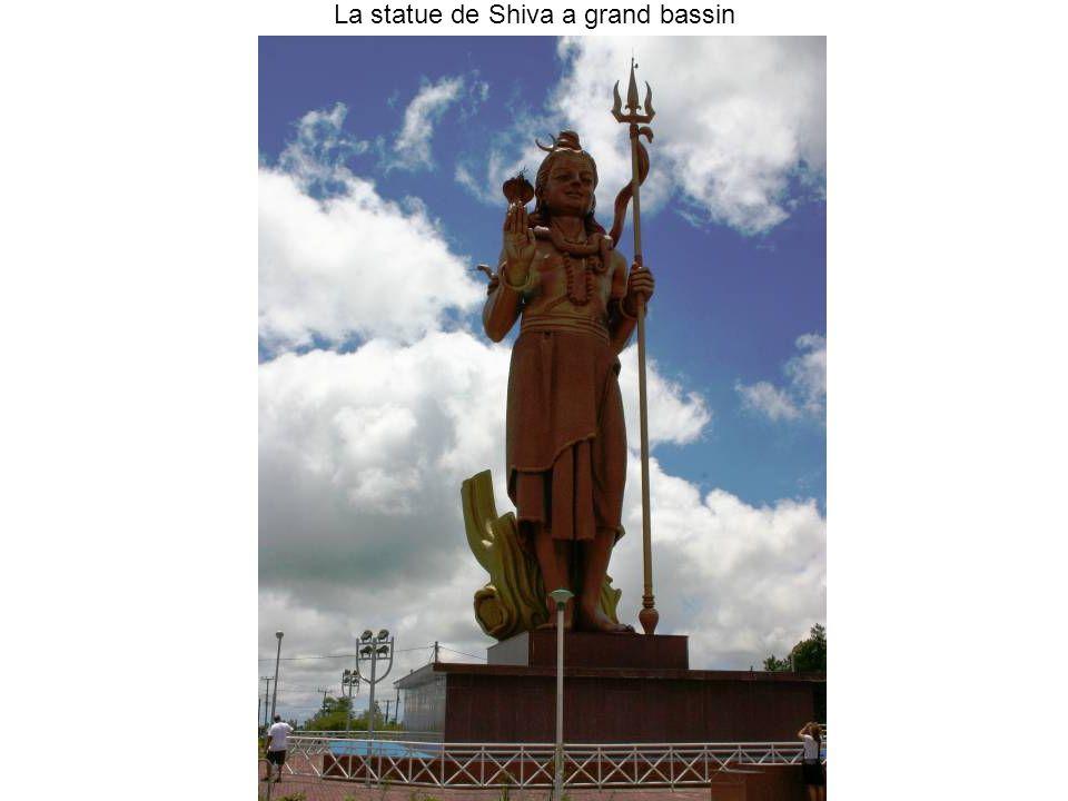 La statue de Shiva a grand bassin