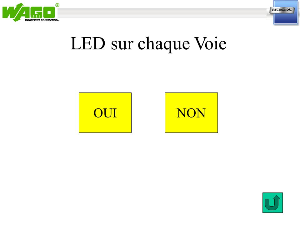 2.3.1 OUINON LED sur chaque Voie