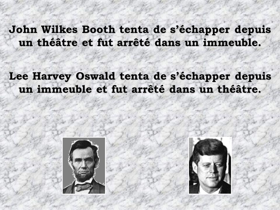 Lincoln mourut dans un théâtre appelé Kennedy. Kennedy mourut dans une voiture appelée Lincoln.
