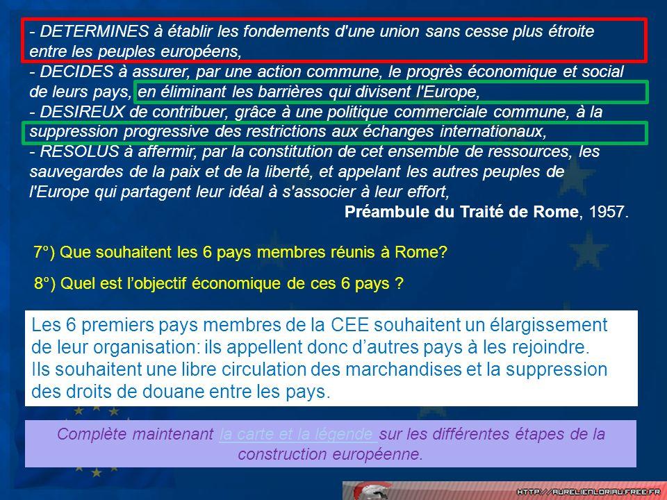 - DETERMINES à établir les fondements d'une union sans cesse plus étroite entre les peuples européens, - DECIDES à assurer, par une action commune, le