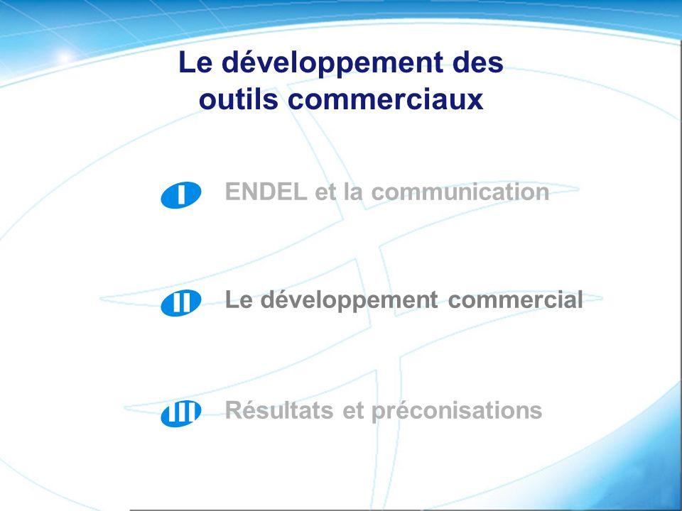 I ENDEL et la communication II Le développement commercial III Résultats et préconisations Le développement des outils commerciaux
