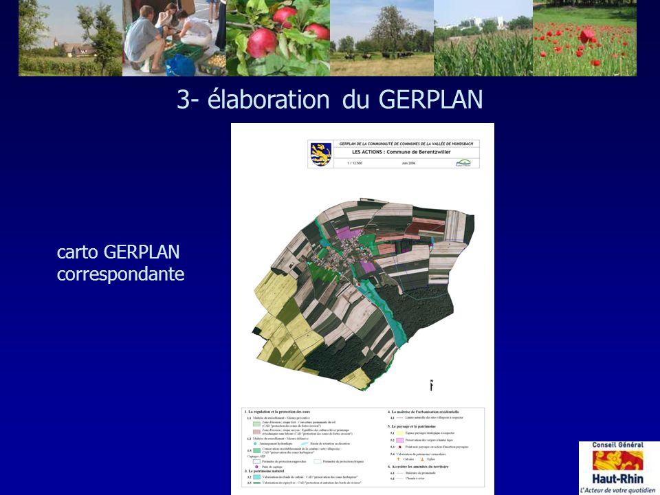 carto GERPLAN correspondante 3- élaboration du GERPLAN