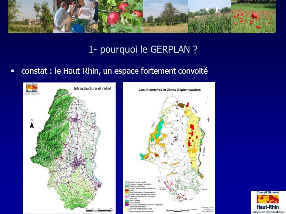 1- pourquoi le GERPLAN ? §constat : le Haut-Rhin, un espace fortement convoité