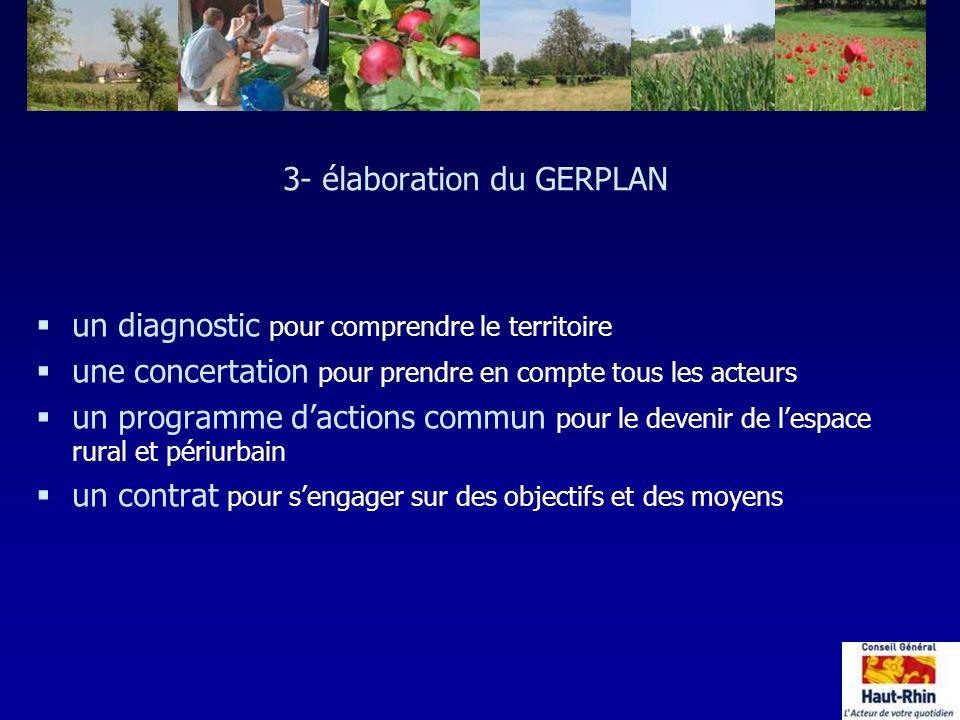 3- élaboration du GERPLAN §un diagnostic pour comprendre le territoire §une concertation pour prendre en compte tous les acteurs §un programme daction