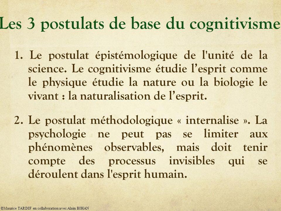 1.Le postulat épistémologique de l unité de la science.