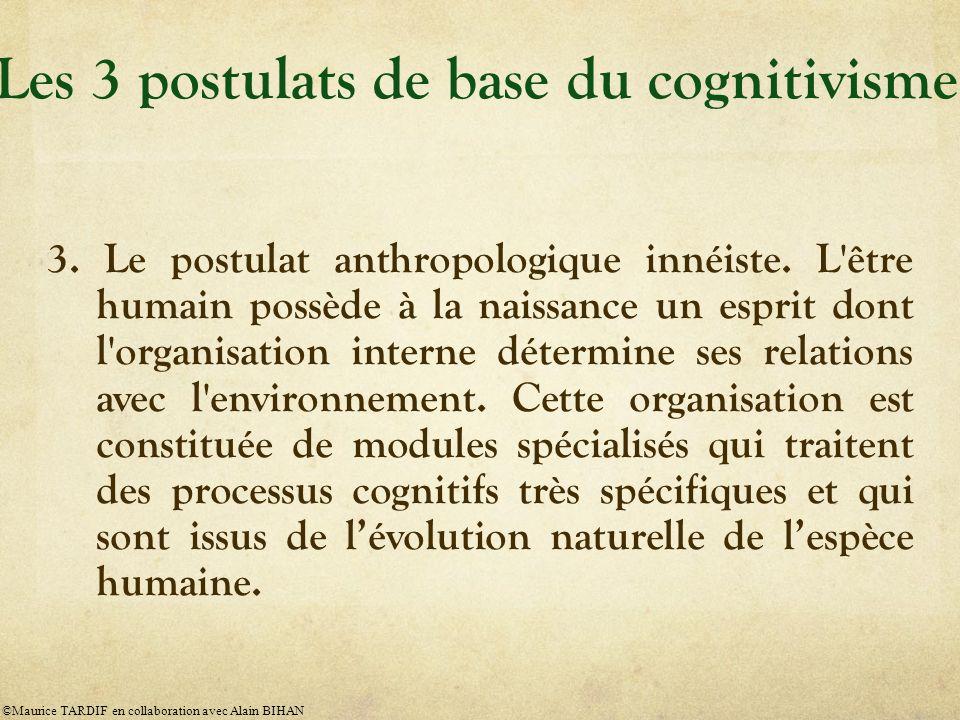 3.Le postulat anthropologique innéiste.
