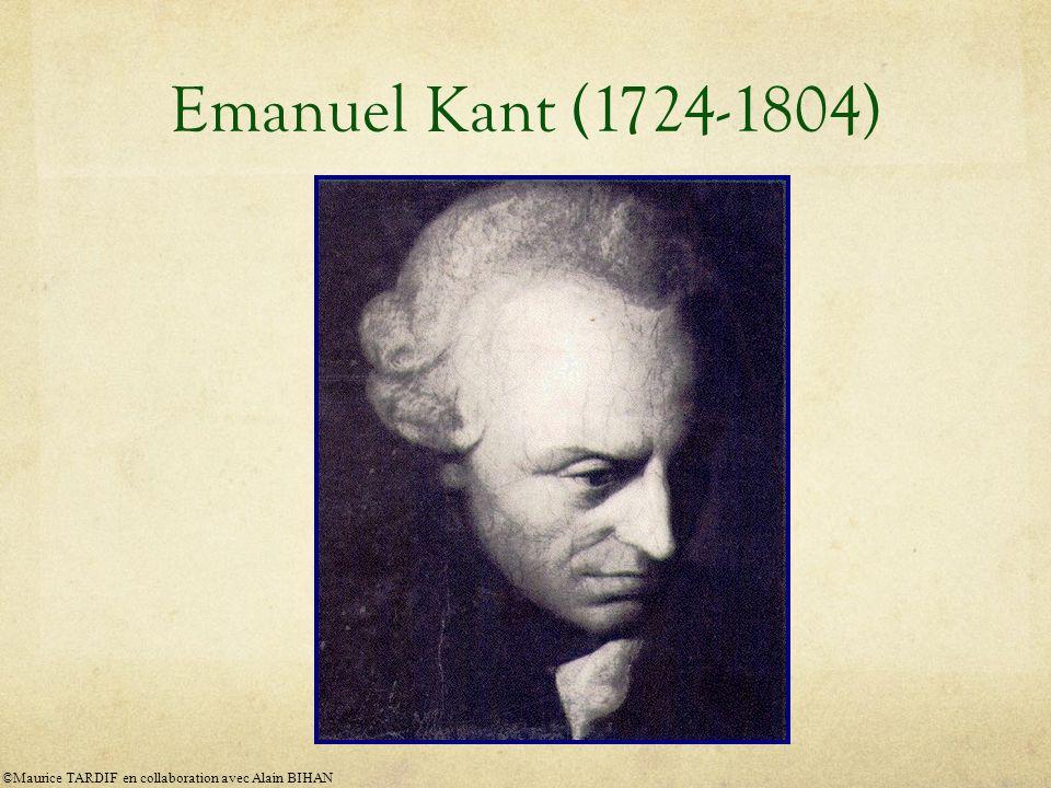 Emanuel Kant (1724-1804) ©Maurice TARDIF en collaboration avec Alain BIHAN