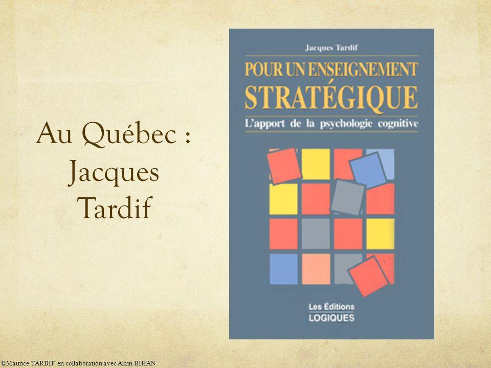 Au Québec : Jacques Tardif ©Maurice TARDIF en collaboration avec Alain BIHAN