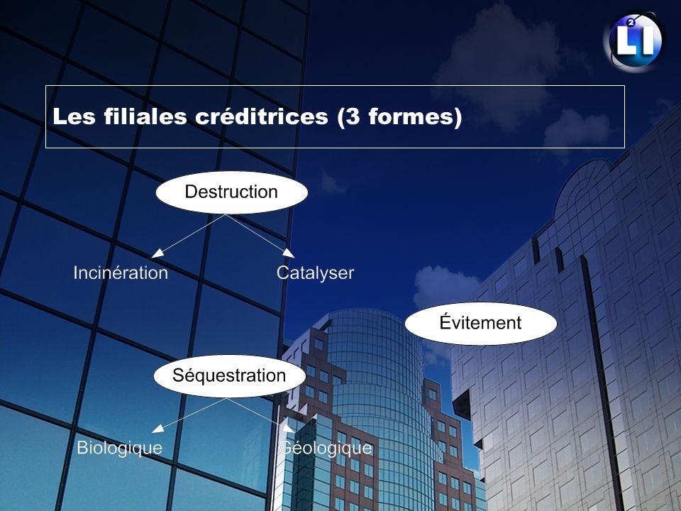 Les filiales créditrices (3 formes)
