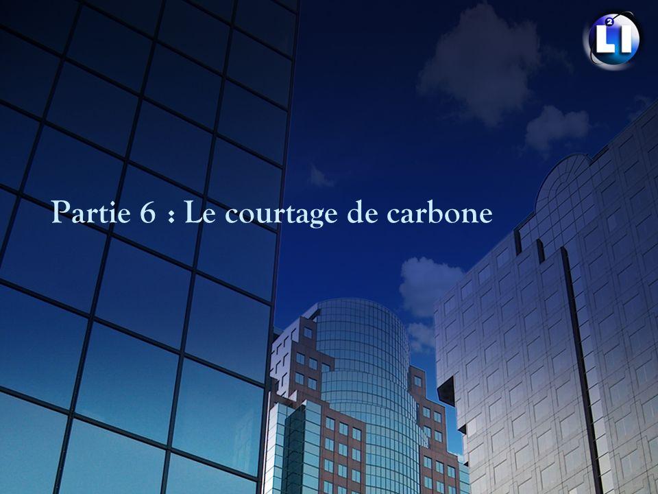 Partie 6 : Le courtage de carbone