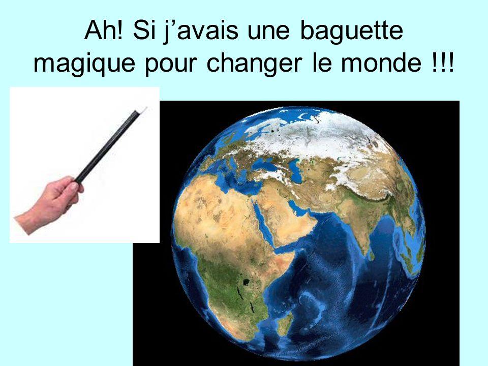 Ah! Si javais une baguette magique pour changer le monde !!!