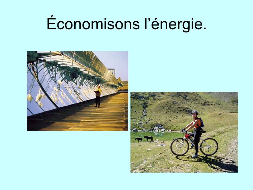 Économisons lénergie.