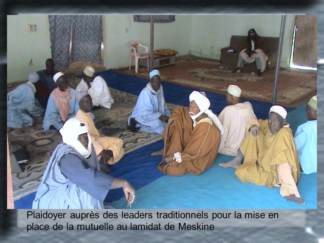Plaidoyer auprès des leaders traditionnels pour la mise en place de la mutuelle au lamidat de Meskine