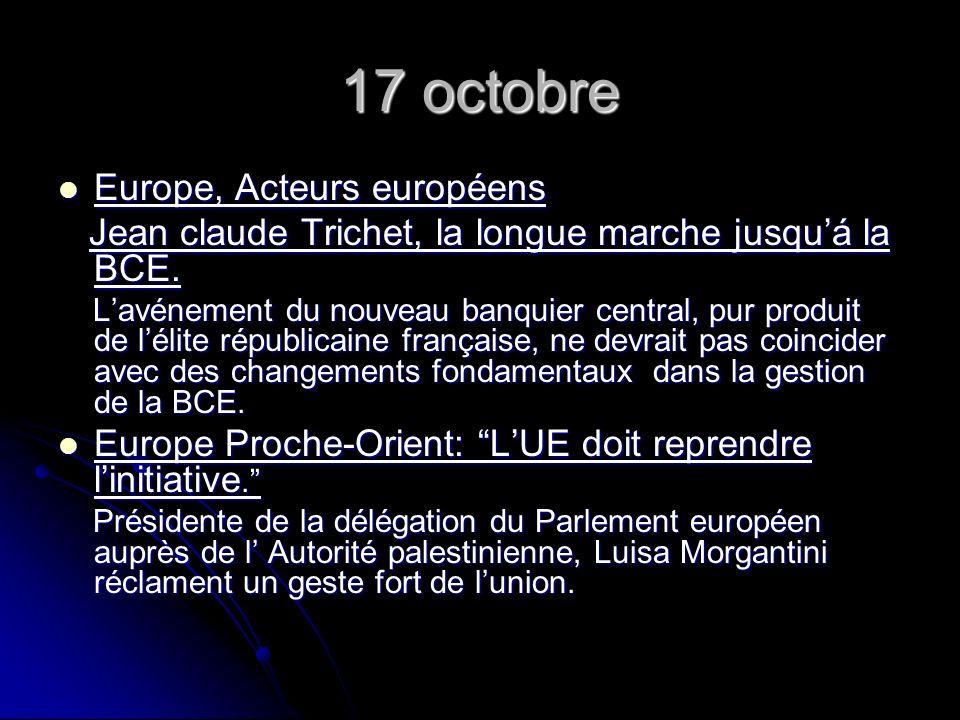 18 octobre Zoom Françallemagne.Zoom Françallemagne.