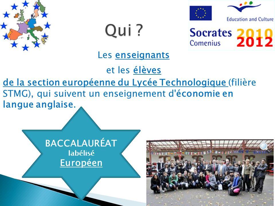 Les enseignants et les élèves de la section européenne du Lycée Technologique (filière STMG), qui suivent un enseignement d'économie en langue anglais