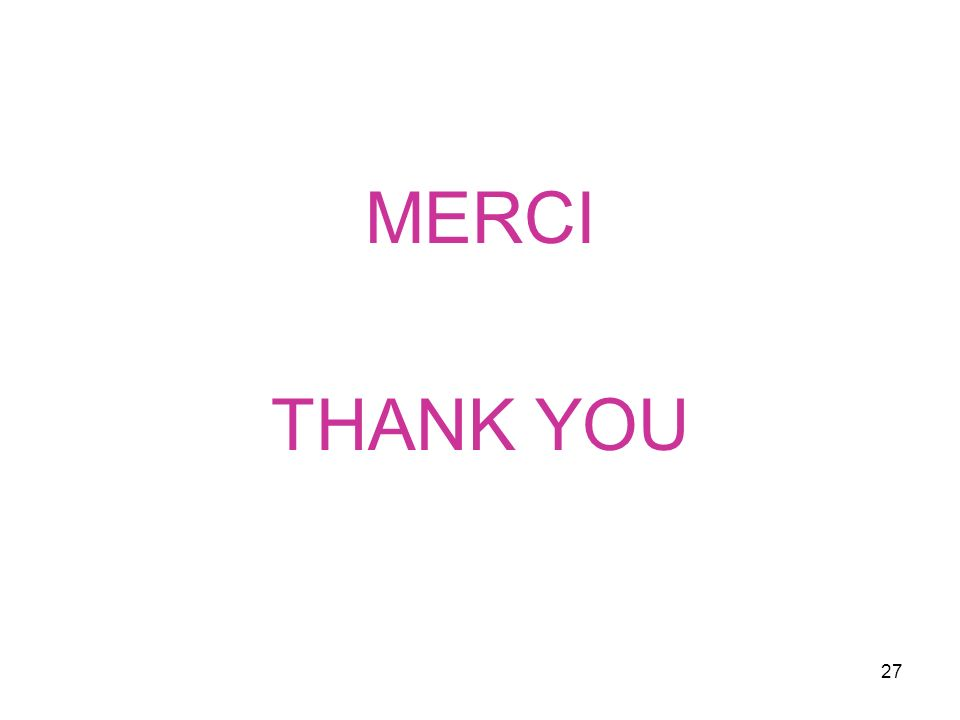 27 MERCI THANK YOU