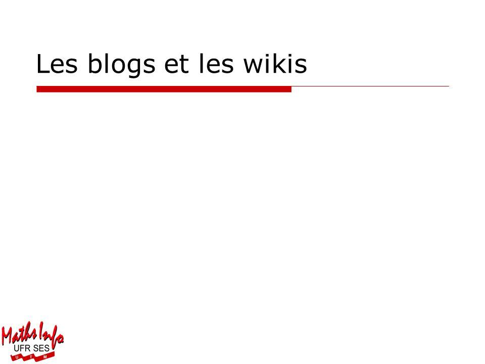 Les blogs et les wikis