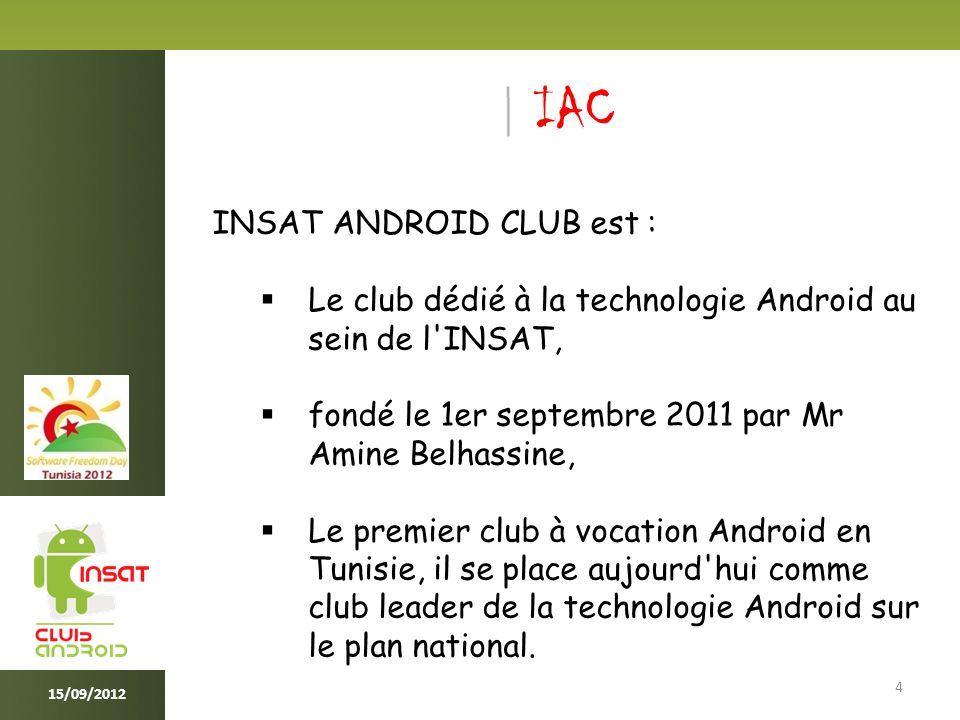 Android Open Source Project 15 15/09/2012