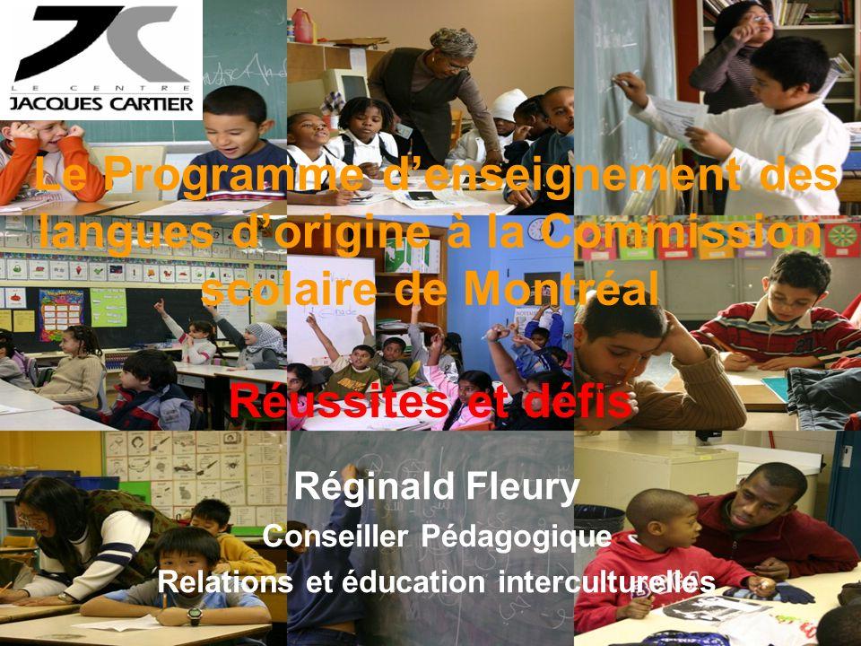 Plan de présentation Le PELO à la CSDM Des réussites –Pour les élèves –Pour le personnel scolaire Des défis à relever –Par les enseignants du PELO –Par le milieu scolaire –Par les institutions responsables du PELO