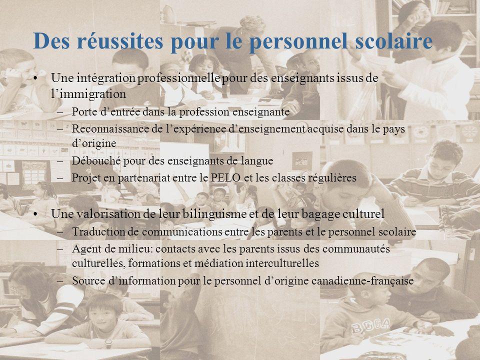Des défis à relever par les enseignants du PELO Intégrer les pratiques pédagogiques des programmes de formation québécois à leur enseignement.