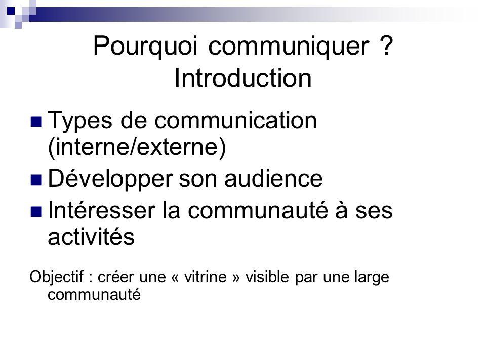 Pourquoi communiquer .