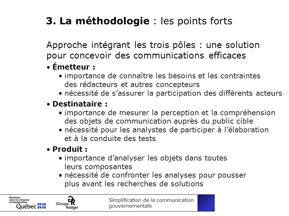 Simplification de la communication gouvernementale 3.