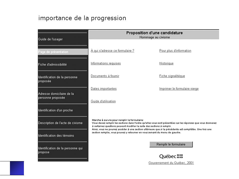 importance de la progression